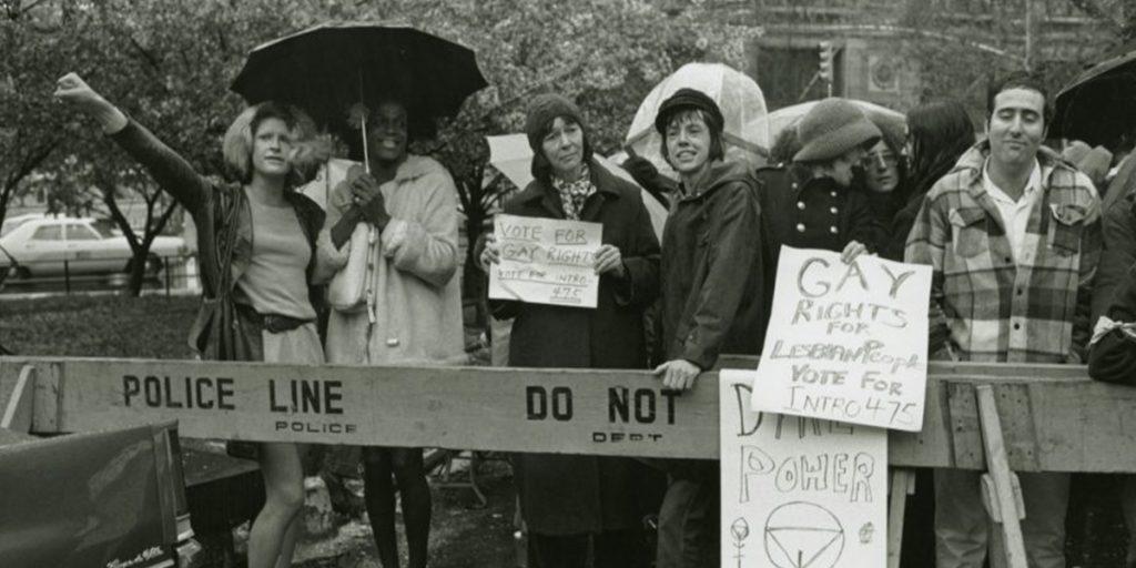 Sylvia Rivera e Marsha P. Johnson durante una protesta
